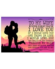 To My Wife 17x11 Poster front