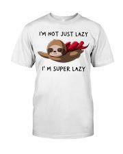 I Am Super Lazy Classic T-Shirt front