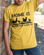 Home Is Where Our Flock Is Classic T-Shirt apparel-classic-tshirt-lifestyle-27
