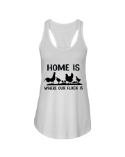 Home Is Where Our Flock Is Ladies Flowy Tank thumbnail
