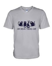 France Cat V-Neck T-Shirt thumbnail