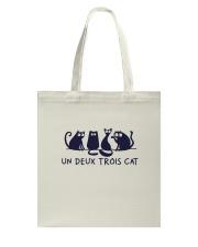 France Cat Tote Bag thumbnail