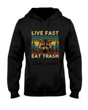 Live Fast Eat Trash Hooded Sweatshirt front