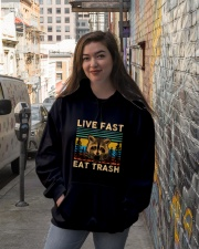 Live Fast Eat Trash Hooded Sweatshirt lifestyle-unisex-hoodie-front-1