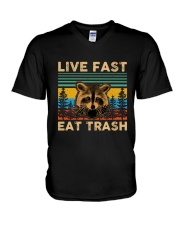 Live Fast Eat Trash V-Neck T-Shirt thumbnail