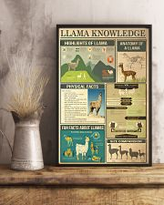 Llama Knowledge 11x17 Poster lifestyle-poster-3