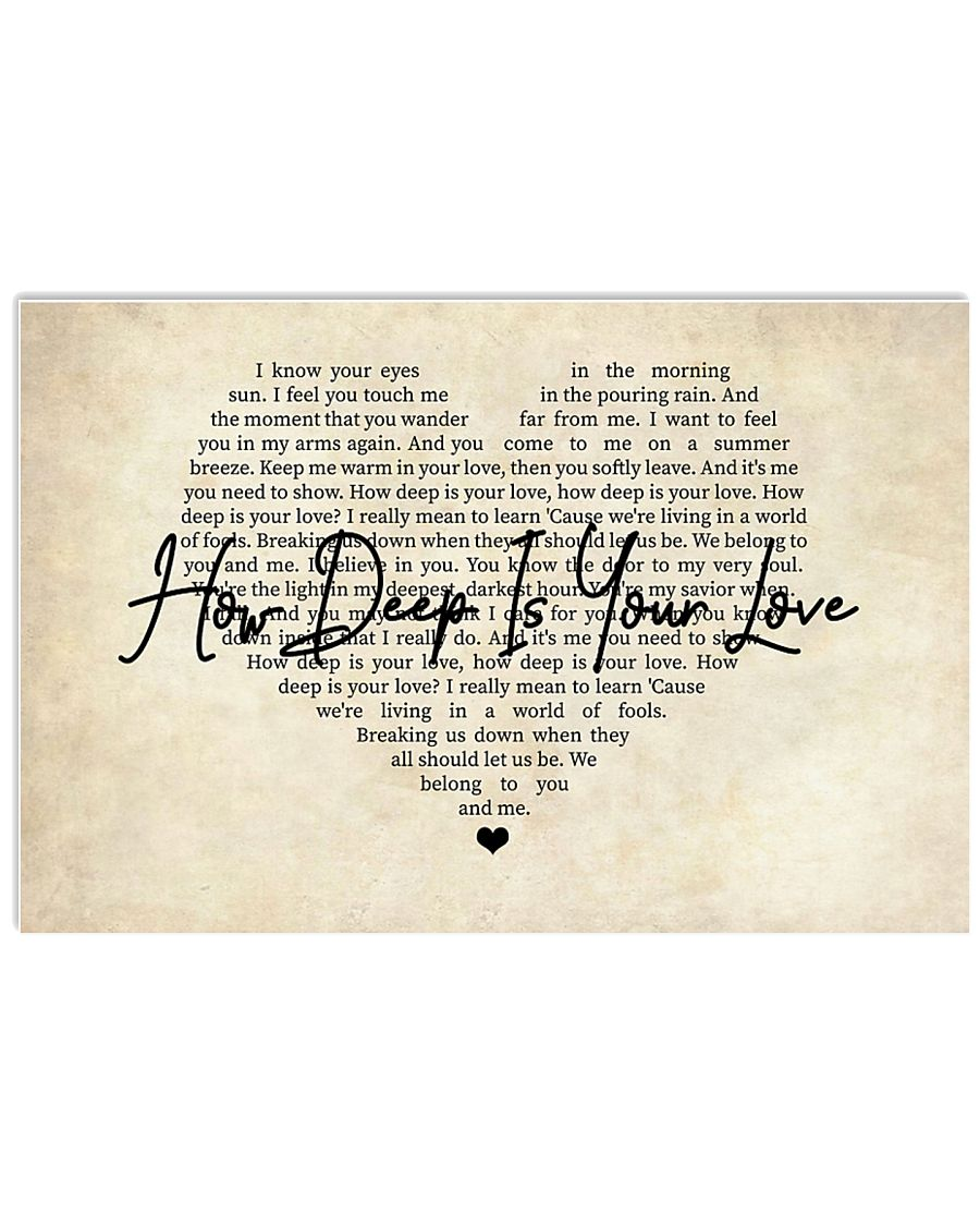 How Deep Is Your Love 17x11 Poster