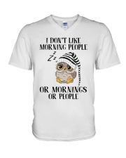 I Don't Like Morning People V-Neck T-Shirt thumbnail