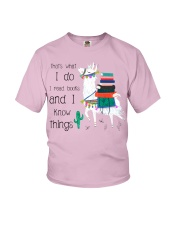 That's What I Do I Read Books Youth T-Shirt thumbnail