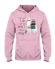 That's What I Do I Read Books Hooded Sweatshirt thumbnail