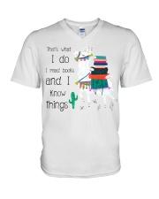 That's What I Do I Read Books V-Neck T-Shirt thumbnail