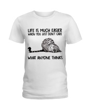 Life Is Much Easier Ladies T-Shirt thumbnail