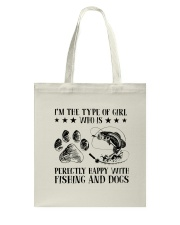 Fishing And Dogs Tote Bag thumbnail