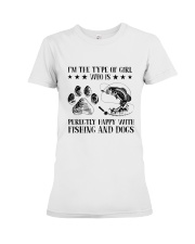 Fishing And Dogs Premium Fit Ladies Tee thumbnail