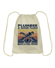 Plumber A Good Flush Drawstring Bag thumbnail