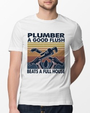 Plumber A Good Flush Classic T-Shirt lifestyle-mens-crewneck-front-13