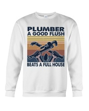 Plumber A Good Flush Crewneck Sweatshirt thumbnail