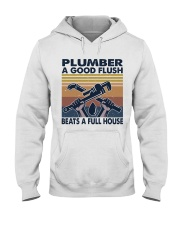 Plumber A Good Flush Hooded Sweatshirt thumbnail