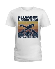 Plumber A Good Flush Ladies T-Shirt thumbnail