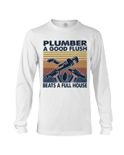 Plumber A Good Flush Long Sleeve Tee thumbnail