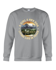 A Girl And Her Dog Crewneck Sweatshirt thumbnail