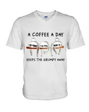 A Coffee A Day V-Neck T-Shirt thumbnail