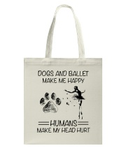 Dogs And Ballet Tote Bag thumbnail