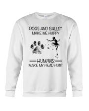 Dogs And Ballet Crewneck Sweatshirt thumbnail