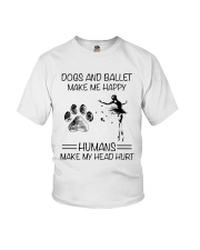 Dogs And Ballet Youth T-Shirt thumbnail
