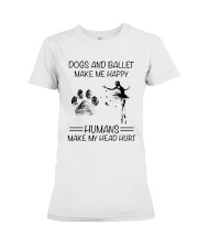 Dogs And Ballet Premium Fit Ladies Tee thumbnail