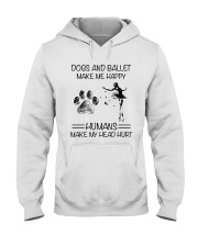 Dogs And Ballet Hooded Sweatshirt thumbnail