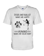 Dogs And Ballet V-Neck T-Shirt thumbnail