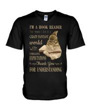 I'm A Book Reader V-Neck T-Shirt thumbnail
