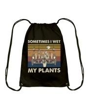 Sometimes I Wet My Plants Drawstring Bag thumbnail