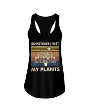 Sometimes I Wet My Plants Ladies Flowy Tank thumbnail