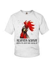 Alway Know When To Just Say Youth T-Shirt thumbnail