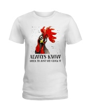 Alway Know When To Just Say Ladies T-Shirt thumbnail