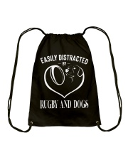 Rugby And Dogs Drawstring Bag thumbnail