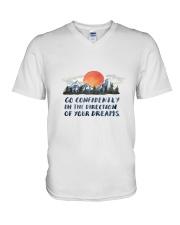 Go Confidently V-Neck T-Shirt thumbnail