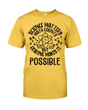 Reading Makes It Possible Classic T-Shirt front