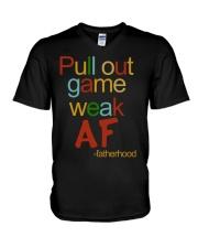 Pull Out Game Weak AF V-Neck T-Shirt thumbnail