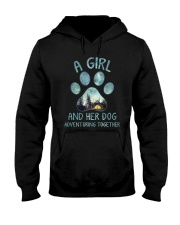 A Girl And Her Dog Hooded Sweatshirt thumbnail