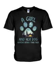 A Girl And Her Dog V-Neck T-Shirt thumbnail