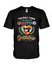 Being A Grandma V-Neck T-Shirt thumbnail
