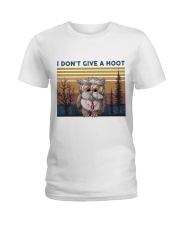 I Don't Give A Hoot Ladies T-Shirt tile