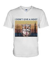I Don't Give A Hoot V-Neck T-Shirt thumbnail