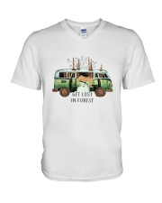 Get Lost In Forest V-Neck T-Shirt thumbnail
