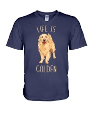 Life Is Golden V-Neck T-Shirt tile