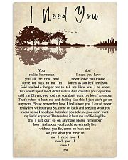I Need You 11x17 Poster front
