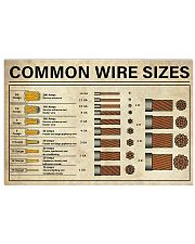 Common Wire Sizes 17x11 Poster front